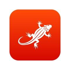 Lizard icon digital red