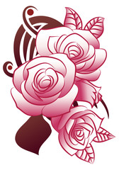 feminime rose tattoo