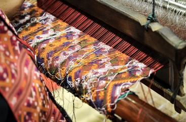 """The Complex Thai Silk Making Process The silkworms, This process is called """"sericulture."""" The most valuable silk yarn is obtained from a silkworm, Household handicrafts product of Thai silk"""