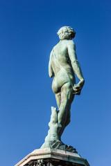 Famous David sculpture at Florence.