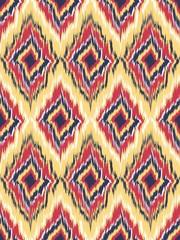 seamless pattern Tribal Art Ikat Ogee
