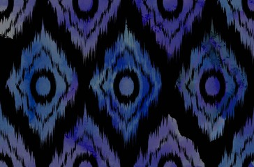 Vivid chevron zig zag watercolor pattern.