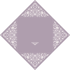 Set of Wedding Invitation or greeting card in light violet color with lace pattern. Layout congratulatory card with openwork pattern.Template card, invitation, advertising banner with space for text