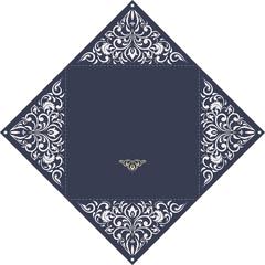 Square cutout wedding invitation template. Laser cutting, die cutting. Lazer cut wedding invitation card. Lazer cut vector lace folds.