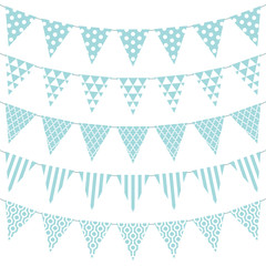 Seamless Buntings Pattern Turquoise