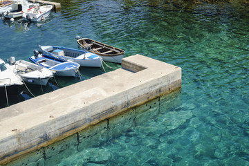 Small boat port in Croatia.