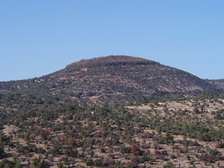 Widok góry na wyspie Thassos w Grecji