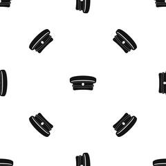 Military hat pattern seamless black