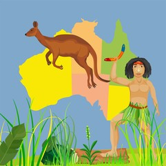 Australia country concept vector illustration