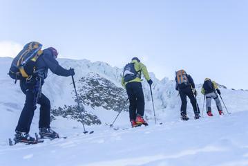 hochalpine Skitour im Gletscherbereich der Wildspitze