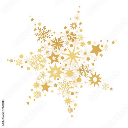 weihnachtlicher goldener stern vektor illustration. Black Bedroom Furniture Sets. Home Design Ideas