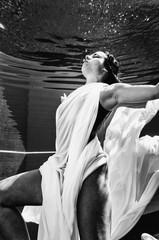 Underwater ballet dance