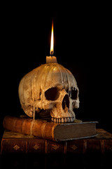 Candle on skull 1