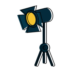stage light icon image vector illustration design