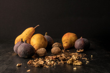 pears, figs and walnuts