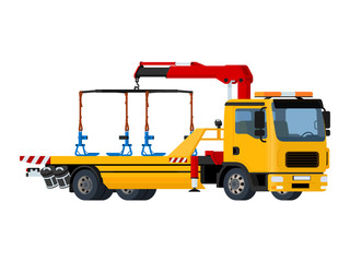 Vector isolated yellow tow truck