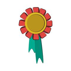medal prize icon image vector illustration design
