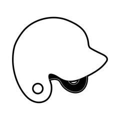 helmet baseball related icon image vector illustration design  black and white