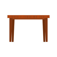 dining table frontview furniture icon image vector illustration design