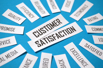 CUSTOMER SATISFACTION Paper Clipping Tag Cloud