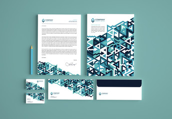 Stationery Branding Kit with Geometric Pattern 1