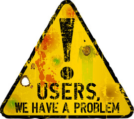 Website down sign, vector illustration