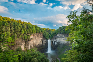 Taughannock Falls On A Cloudy Evening