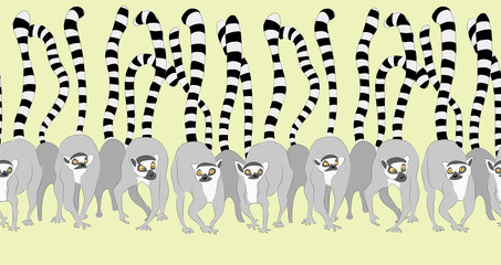 lemur. seamless pattern