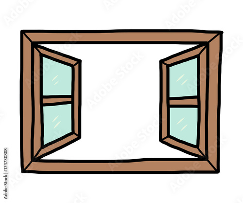 """Open Window Clipart Clipart Suggest: """"open Window / Cartoon Vector And Illustration, Hand Drawn"""