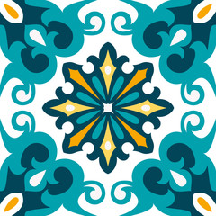 Oriental traditional ornament,Mediterranean seamless pattern, tile design, vector illustration.