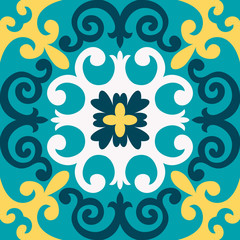 Oriental traditional ornament,Mediterranean seamless pattern, tile design, vector illustration.
