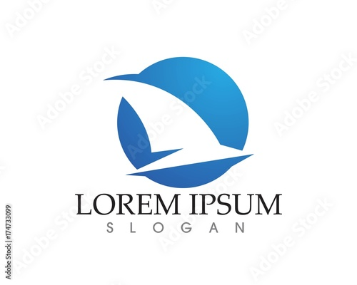 Bird Flying Wing Logo Symbol For A Professional Designer Stock