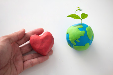 concept of love for the earth, earth day