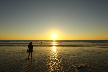 Sunset at beach, Broome