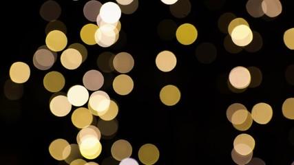 Fotobehang - blurred chtistmas lights over dark background