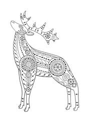 Patterned deer