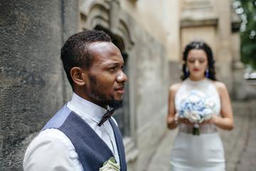 couple celebrating their wedding day