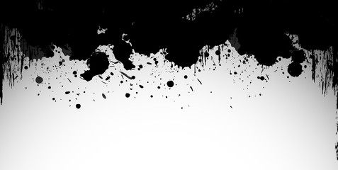 Black splash on white background