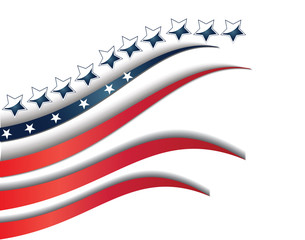 Flag USA isolated background template