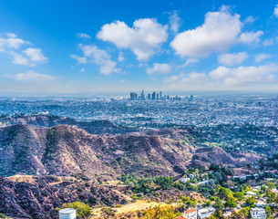 Wall Mural - Cumulus clouds over Los Angeles
