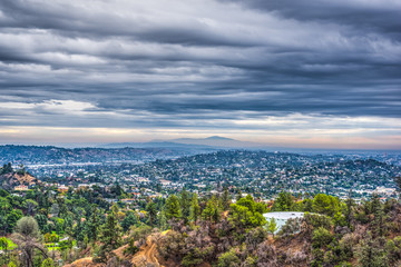Wall Mural - Overcast sky over Los Angeles