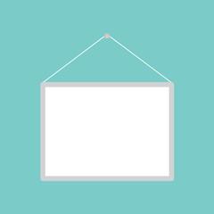 blank white banner- vector illustration