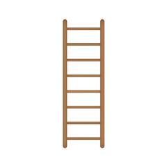 wooden ladder icon- vector illustration