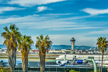 Ingelijste posters Luchthaven Los Angeles International Airport apron