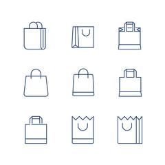 Shopping Bag Line Icon Vector / shopping bag icon / shopping bag - Vector icon. Editable stroke
