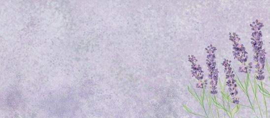 Lavender bacground. Watercolor on canvas