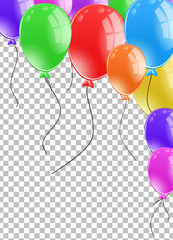 Background design with many balloons