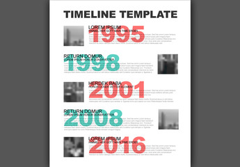Typography Timeline Infographic Layout