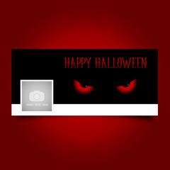 Fototapete - Halloween evil eyes timeline cover