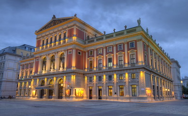 In de dag Wenen Great Hall of Wiener Musikverein, Vienna, Austria, HDR
